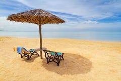 Тропический пейзаж пляжа Стоковая Фотография RF