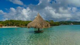 Тропический песчаный пляж карибского моря рая Стоковое Фото