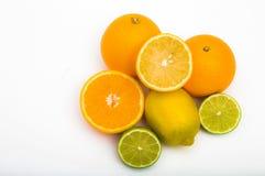 Тропический плодоовощ на белой предпосылке стоковая фотография