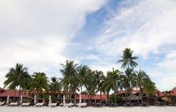 Тропический пляжный комплекс Стоковое Изображение
