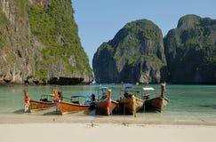 тропический пляж, залив Майя, ТАИЛАНД Стоковое Фото