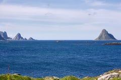 Тропический пляж на Andenes в Норвегии Стоковое Изображение RF