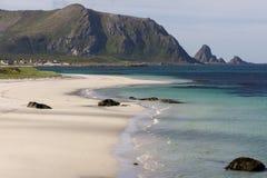 Тропический пляж на Andenes в Норвегии Стоковые Фото
