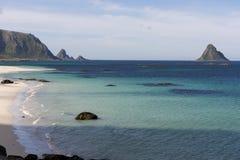 Тропический пляж на Andenes в Норвегии Стоковое Изображение