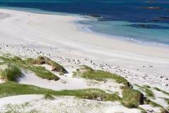 Тропический пляж на Andenes в Норвегии Стоковое фото RF
