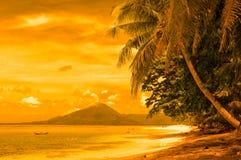 Тропический пляж, острова banda, Индонесия Стоковое фото RF