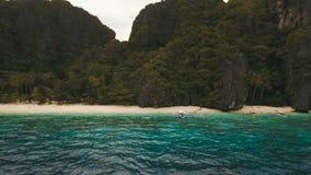 Тропический пляж, вид с воздуха остров тропический акции видеоматериалы