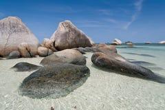Тропический пляж в Индонезии, Bintan стоковое изображение