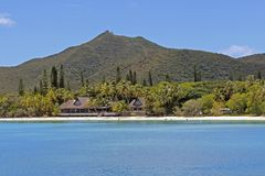 Тропический пляж на острове сосен, Новой Каледонии Стоковая Фотография