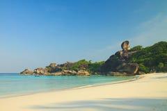 Тропический пляж на острове Similan Стоковые Фотографии RF