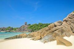 Тропический пляж на острове Similan Стоковое Изображение