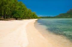 Тропический пляж рая Стоковое Изображение