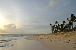 Тропический пляж, Доминиканская Республика Стоковые Фотографии RF