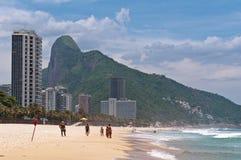 Тропический пляж Conrado Sao в Рио-де-Жанейро стоковое изображение rf