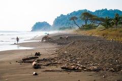 Тропический пляж Playa Hermosa Стоковое Изображение RF