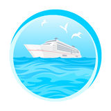 Тропический, рай океана, острова, туристическое судно Стоковые Фото