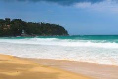 Тропический см. взгляд, океан пляжа Стоковое Изображение