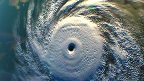 Тропический циклон, спутниковый взгляд, 3D анимация бесплатная иллюстрация