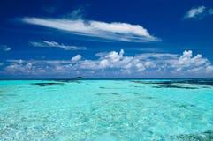 Тропический seascape в Мальдивах Стоковое Изображение RF