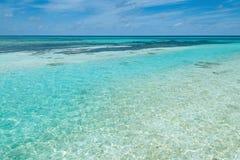 Тропический seascape в Мальдивах Стоковые Изображения
