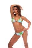 тропическое бикини модельное Стоковые Фото