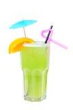 тропическое коктеила зеленое Стоковое Изображение RF