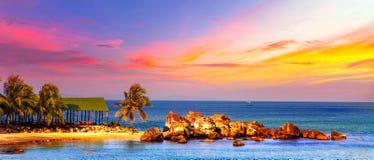 Тропическое море ландшафта Стоковые Фото
