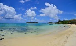 Тропическое море в острове Маврикия Стоковая Фотография