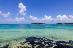 Тропическое море в острове Маврикия Стоковое фото RF