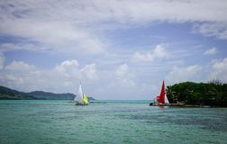 Тропическое море в острове Маврикия Стоковые Фото