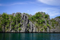 Тропическое море в Palawan, Филиппинах Стоковые Фото