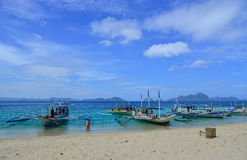 Тропическое море в Palawan, Филиппинах Стоковое фото RF
