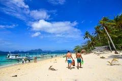 Тропическое море в Palawan, Филиппинах Стоковое Изображение