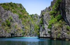 Тропическое море в Palawan, Филиппинах Стоковые Фотографии RF