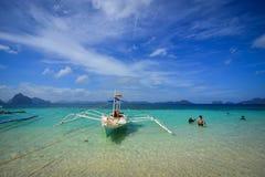 Тропическое море в Palawan, Филиппинах Стоковые Изображения RF