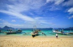 Тропическое море в Palawan, Филиппинах Стоковая Фотография