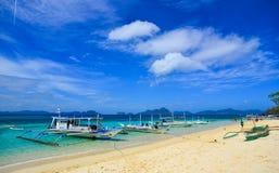 Тропическое море в Palawan, Филиппинах Стоковое Изображение RF