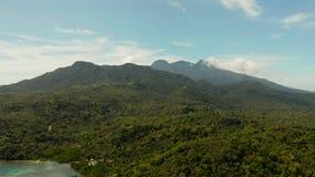 Тропическое морское побережье ландшафта, горы видеоматериал