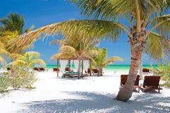 тропическое пляжа совершенное стоковое изображение