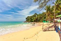 тропическое пляжа экзотическое Стоковые Фотографии RF