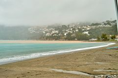 Тропическое побережье к югу от пляжа Испании в Гранаде, подкове стоковое фото