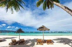 тропическое пляжа идилличное Стоковые Изображения RF
