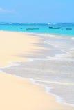 тропическое пляжа песочное Стоковые Изображения