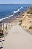 тропка бухточки пляжа кристаллическая Стоковые Изображения RF
