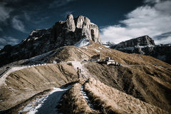 Тропка в горах Стоковое Изображение RF