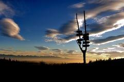 тропка захода солнца Стоковое фото RF