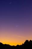 тропка звезды горы ландшафта Стоковые Изображения RF