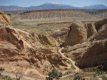 тропка каньона заусенца стоковая фотография