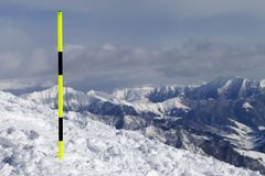 Тропка лыжи Стоковое фото RF