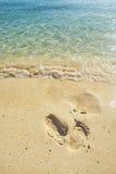 Тропка на пляже Стоковая Фотография